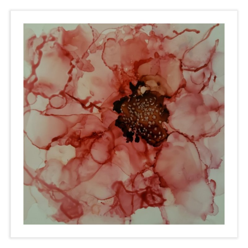 Coral Floral Abstract Home Fine Art Print by Davis Inspired Creations