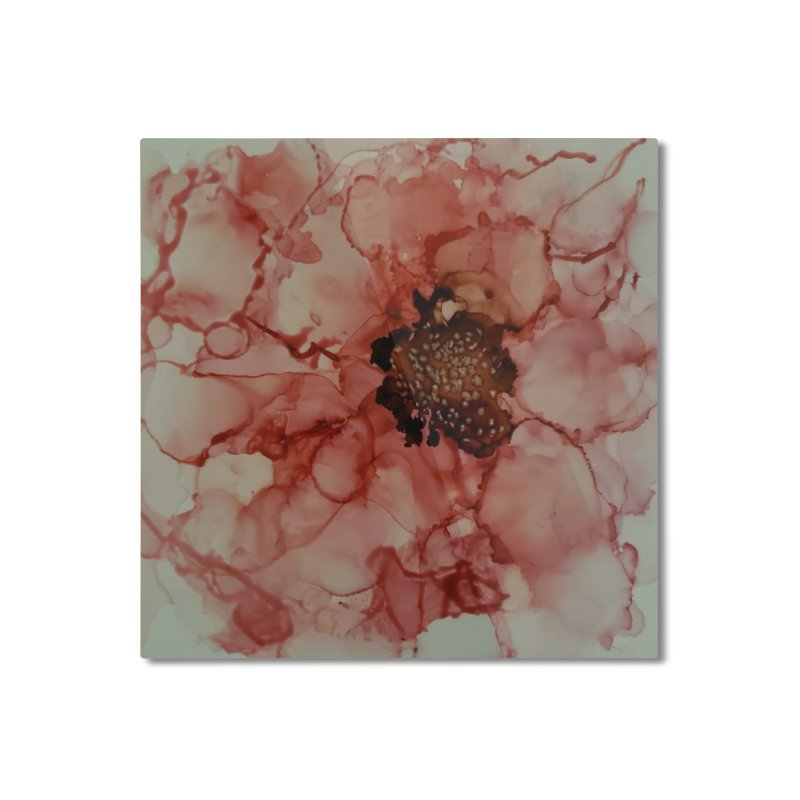 Coral Floral Abstract Home Mounted Aluminum Print by Davis Inspired Creations