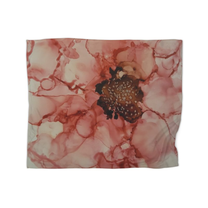 Coral Floral Abstract Home Blanket by Davis Inspired Creations