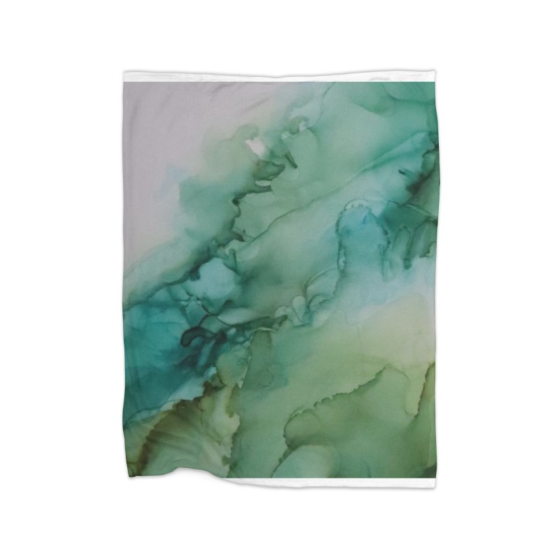 Caterpillar Incognito - Alcohol Ink Abstract Home Blanket by Davis Inspired Creations