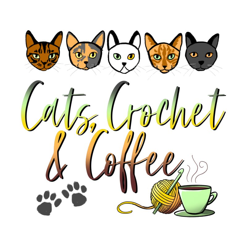 Cats, Crochet & Coffee Prints and Pillows Blanket by Dawgpainter's Artist Shop