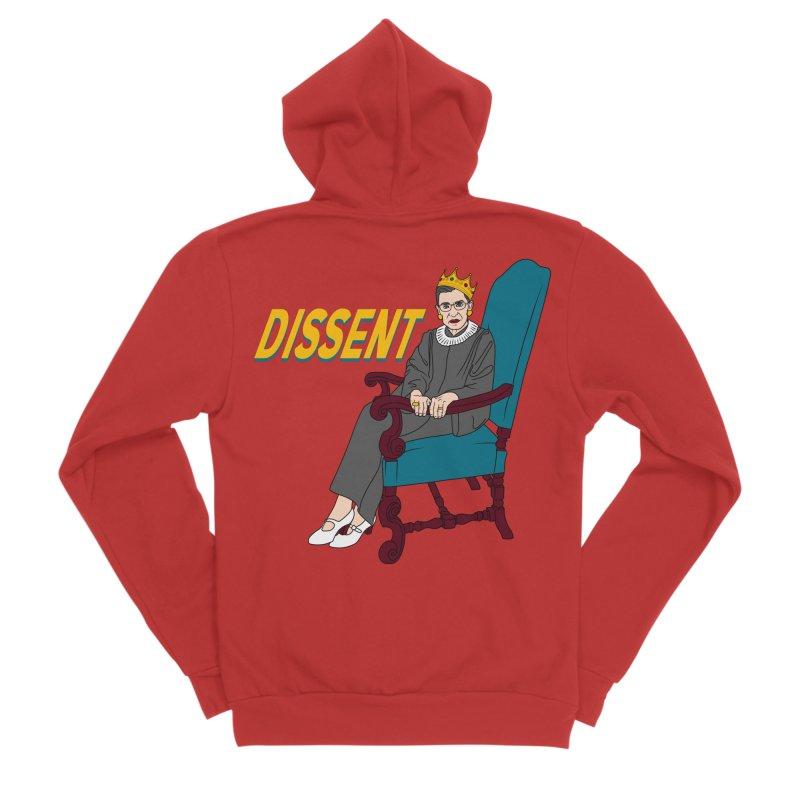 RBG Dissent Masc Apparel S - 5XL Zip-Up Hoody by Dawgpainter's Artist Shop