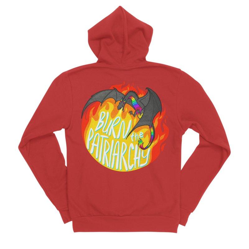 Burn The Patriarchy Masc Apparel S - 5XL Zip-Up Hoody by Dawgpainter's Artist Shop