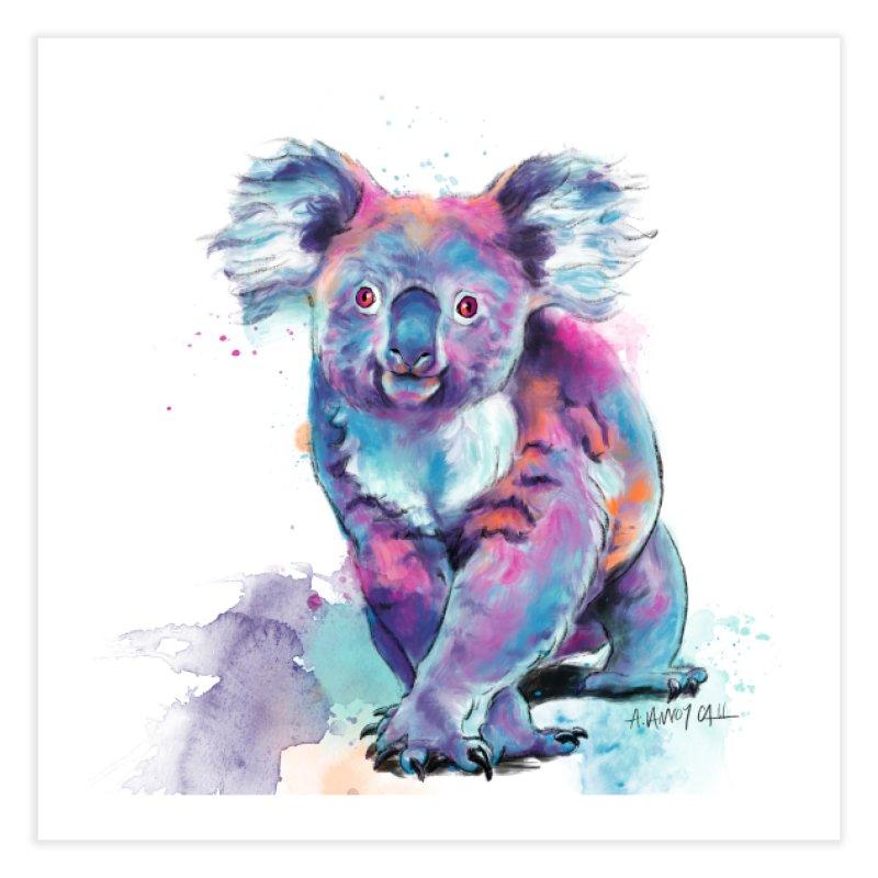 Koala Prints and Pillows Fine Art Print by Dawgpainter's Artist Shop