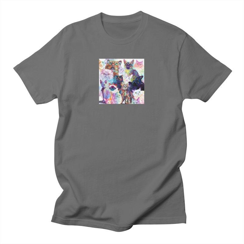 Clowder of Cats Masc Apparel S - 5XL T-Shirt by Dawgpainter's Artist Shop