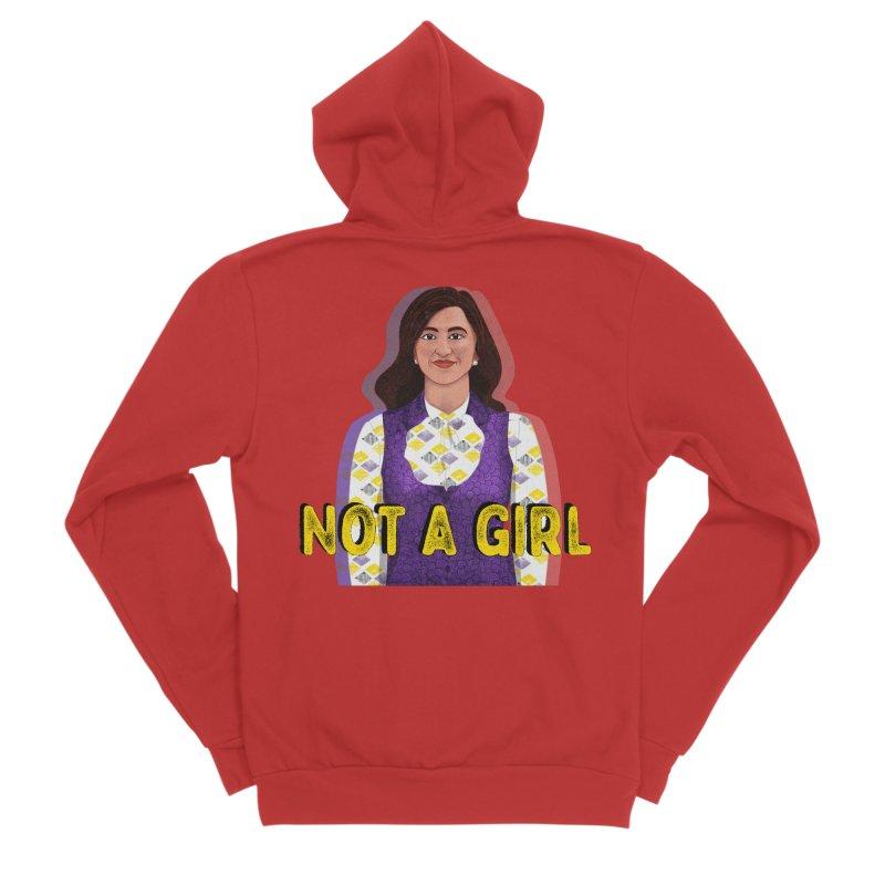 Not A Girl Masc Apparel S - 5XL Zip-Up Hoody by Dawgpainter's Artist Shop