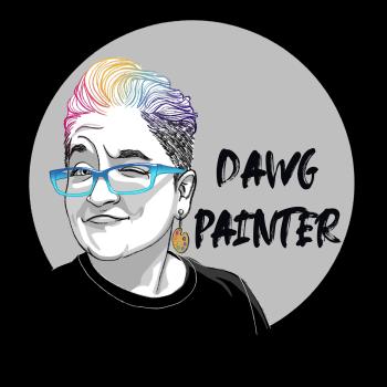 Dawgpainter's Artist Shop Logo