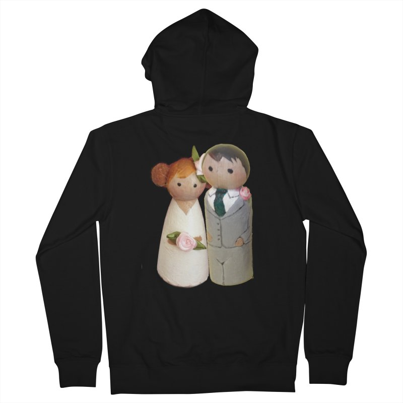 PEG DOLL WEDDING Men's Zip-Up Hoody by Dawnsdesigns's Artist Shop