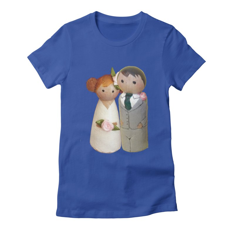 PEG DOLL WEDDING Women's Fitted T-Shirt by Dawnsdesigns's Artist Shop