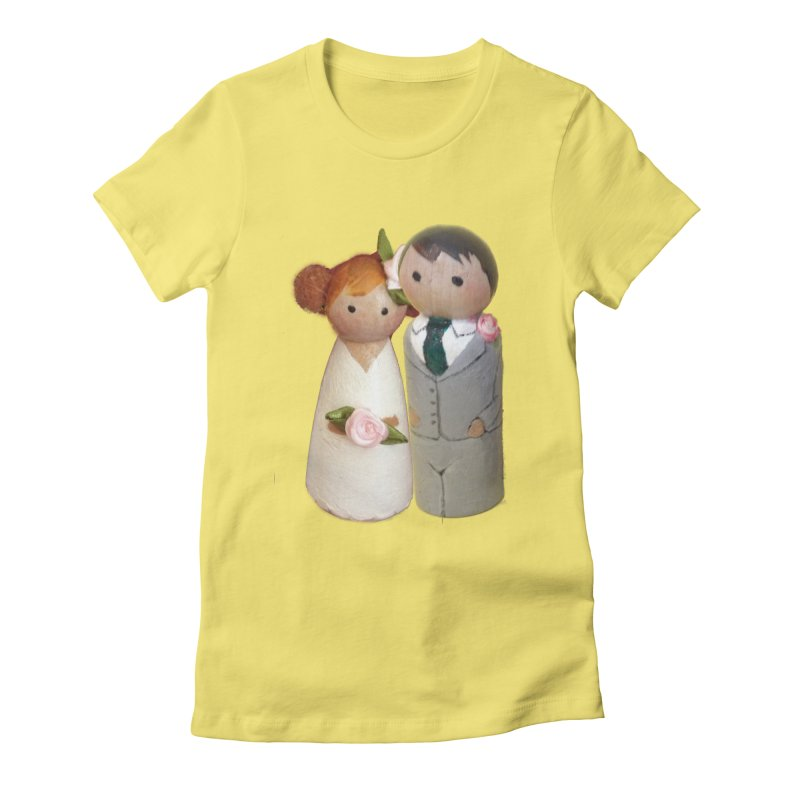 PEG DOLL WEDDING Women's Fitted T-Shirt by Dawnsdesigns's Artist Shop