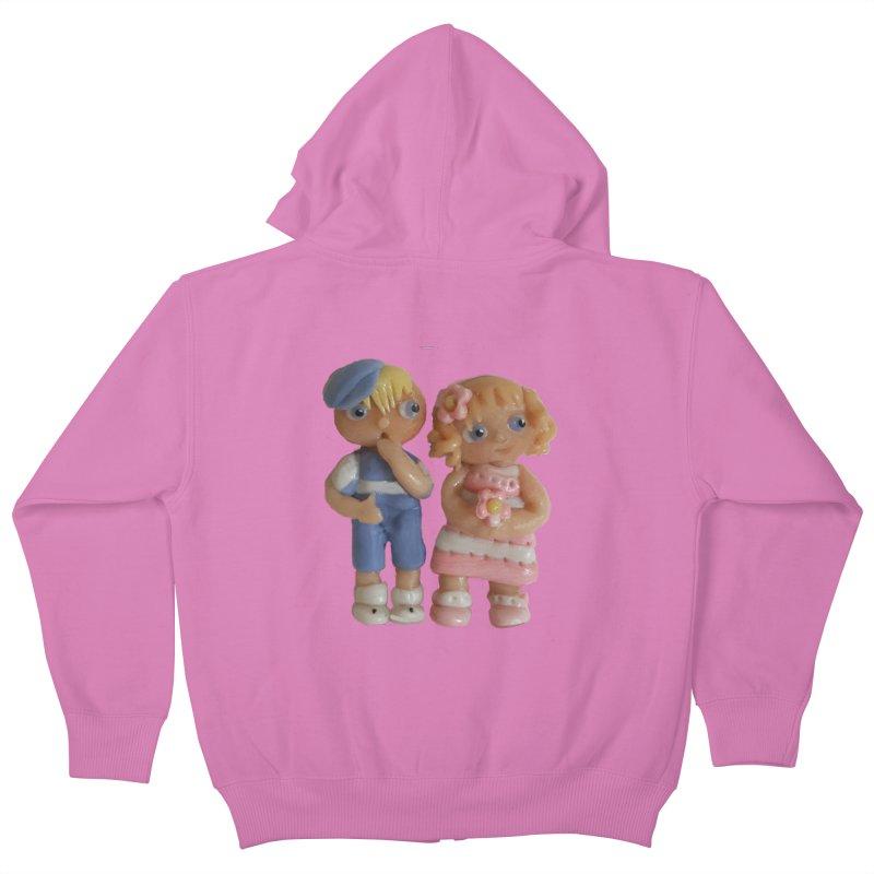 Best Friends Kids Zip-Up Hoody by Dawnsdesigns's Artist Shop