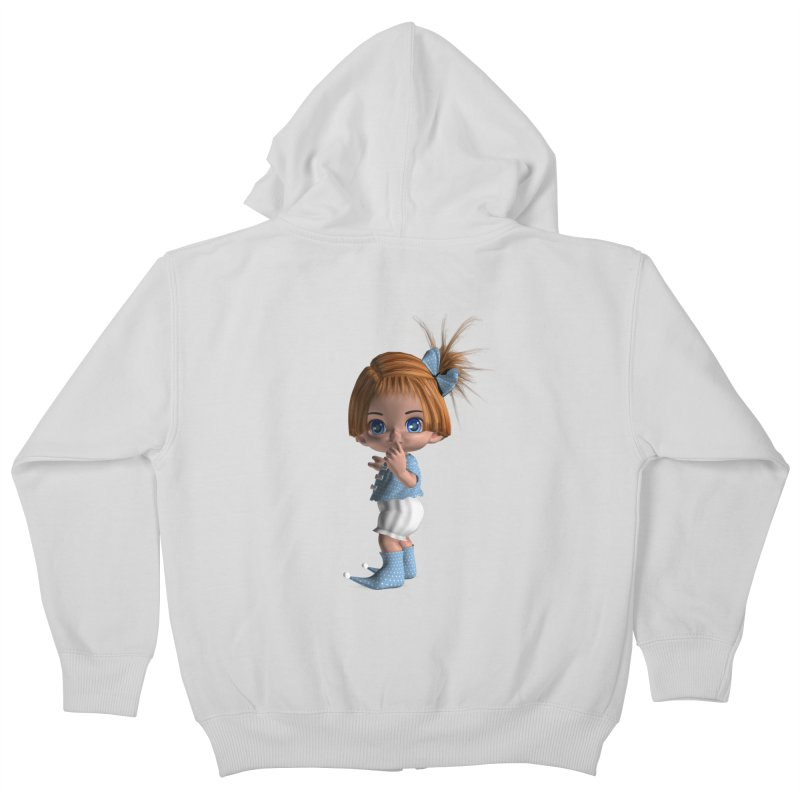 ssshh Kids Zip-Up Hoody by Dawnsdesigns's Artist Shop