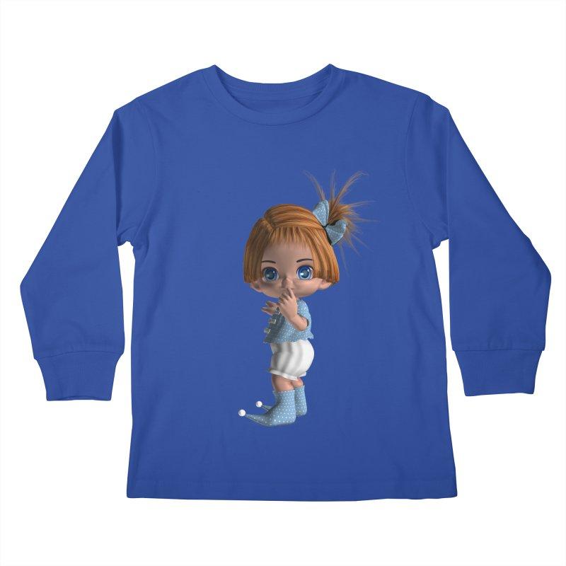 ssshh Kids Longsleeve T-Shirt by Dawnsdesigns's Artist Shop