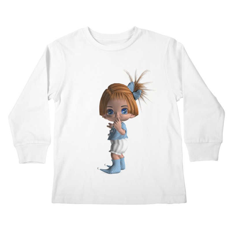 ssshh Kids Longsleeve T-Shirt by Dawnsdesigns's Artist Shop