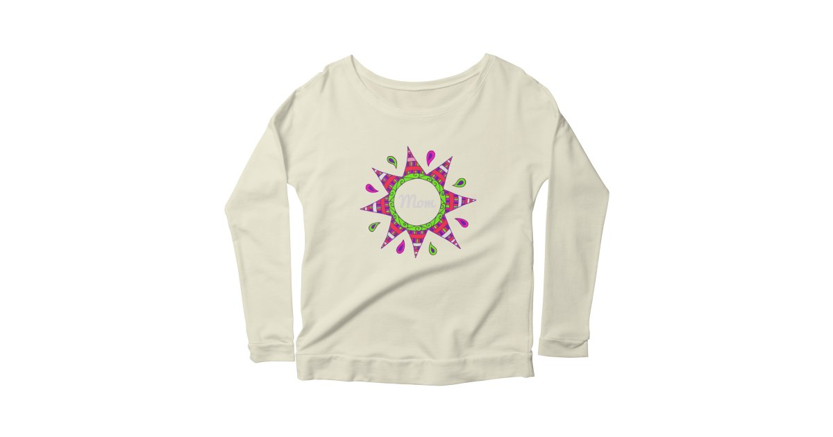 Day007 Happy Birthday Mom Womens Longsleeve Scoopneck