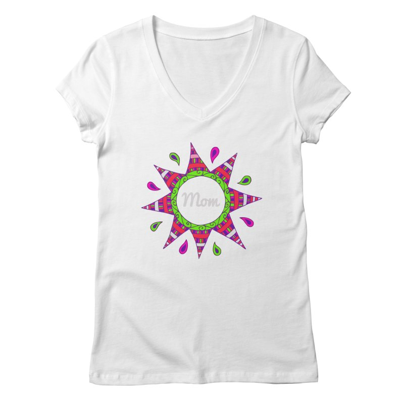 Day007 Happy Birthday Mom Womens V Neck