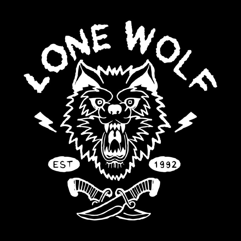 LONE WOLF Men's T-Shirt by Deelkayy's Artist Shop