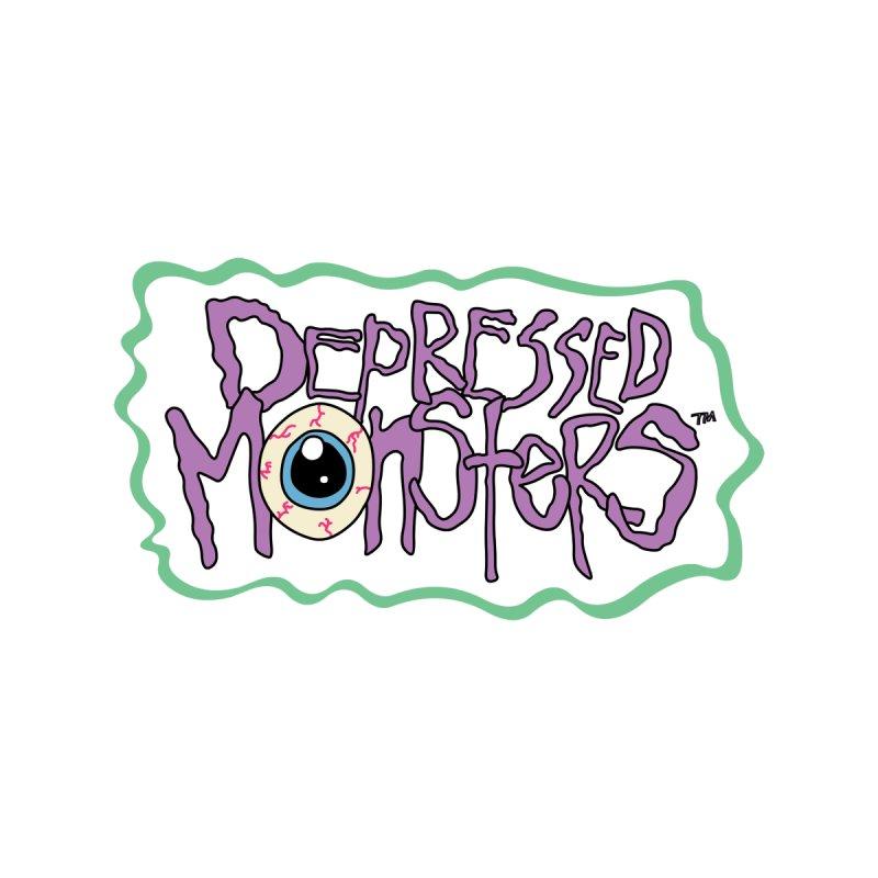 Depressed Monsters Logo Kids Baby Longsleeve Bodysuit by Depressed Monsters