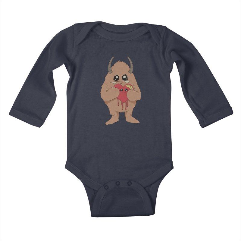 Yerman Heart Kids Baby Longsleeve Bodysuit by Depressed Monsters