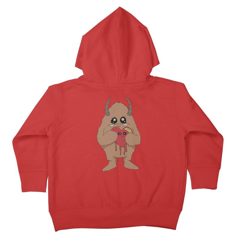 Yerman Heart Kids Toddler Zip-Up Hoody by Depressed Monsters