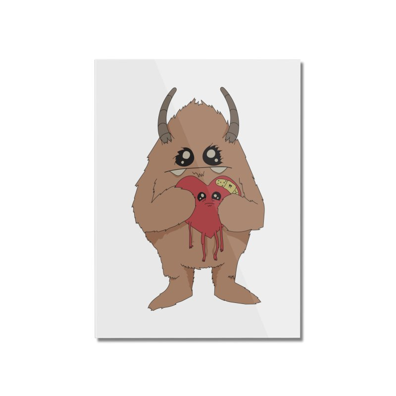 Yerman Heart Home Mounted Acrylic Print by Depressed Monsters