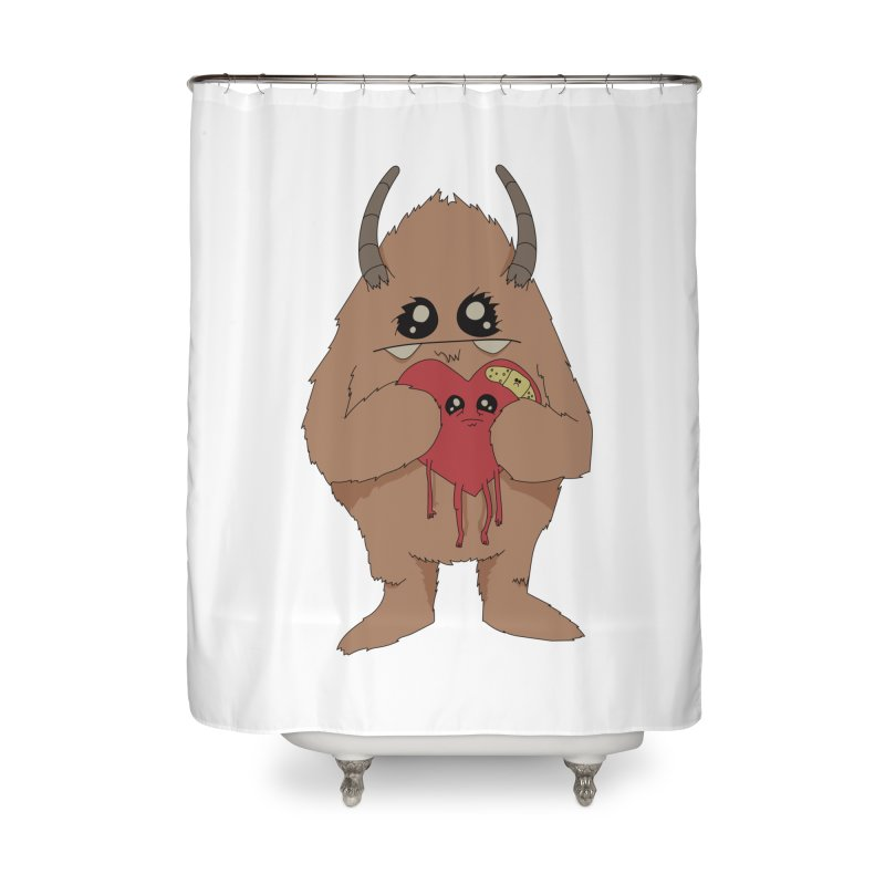 Yerman Heart Home Shower Curtain by Depressed Monsters