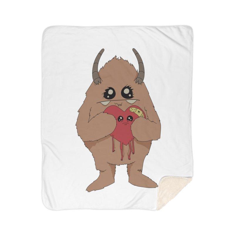 Yerman Heart Home Blanket by Depressed Monsters