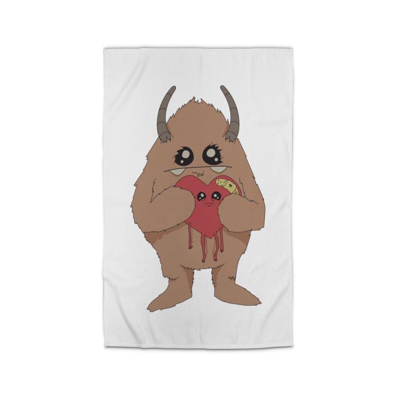 Yerman Heart Home Rug by Depressed Monsters