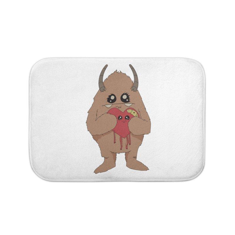 Yerman Heart Home Bath Mat by Depressed Monsters