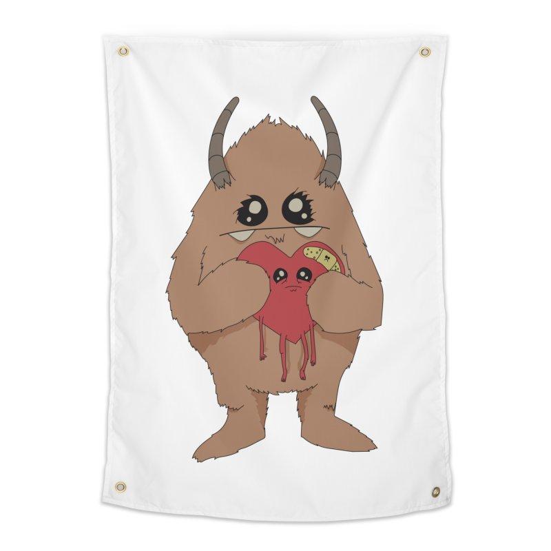 Yerman Heart Home Tapestry by Depressed Monsters