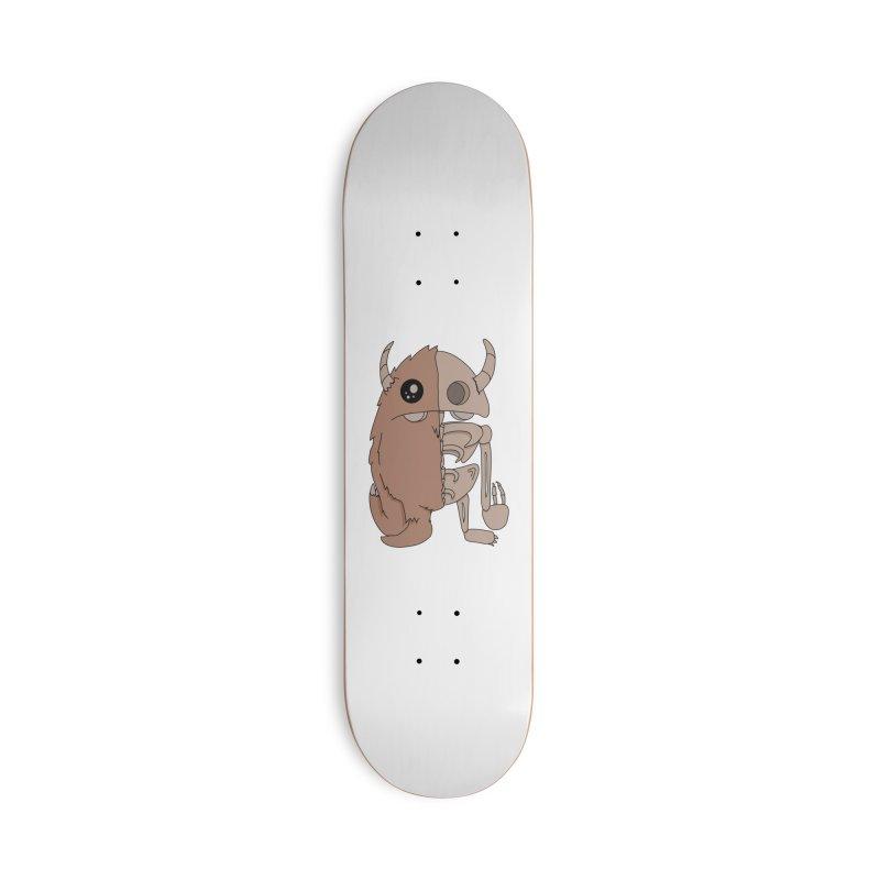Skeleton Accessories Skateboard by Depressed Monsters