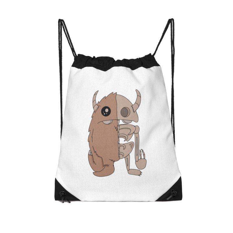 Skeleton Accessories Bag by Depressed Monsters