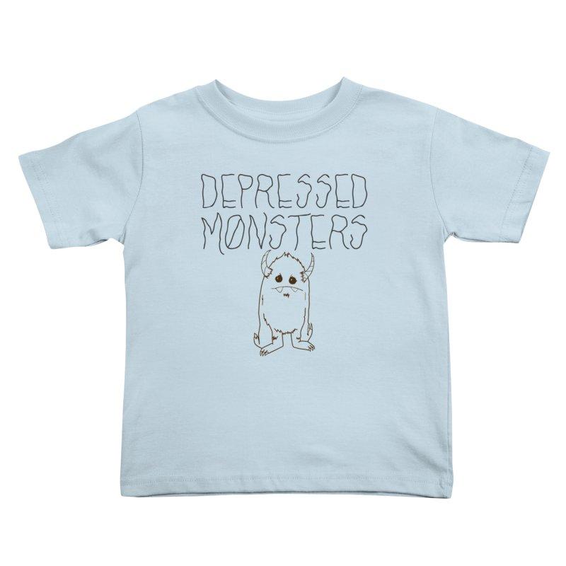 Depressed Monsters Kids Toddler T-Shirt by Depressed Monsters