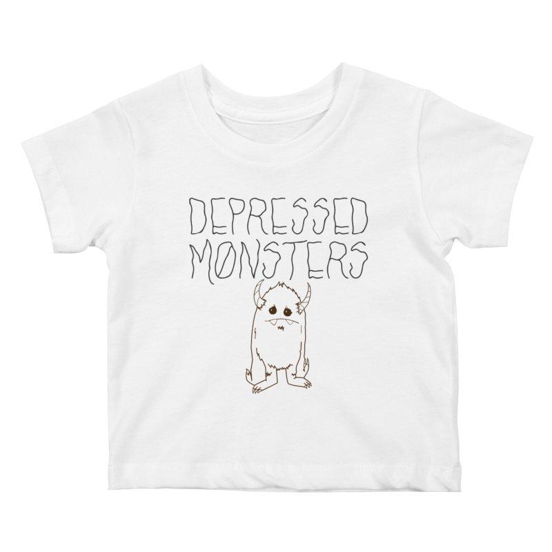 Depressed Monsters Kids Baby T-Shirt by Depressed Monsters