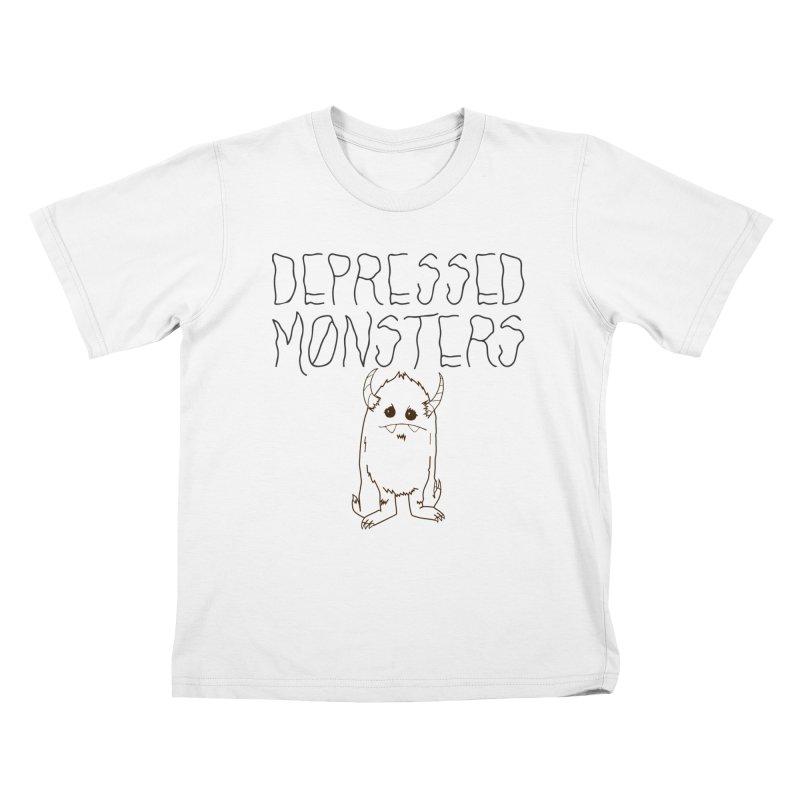 Depressed Monsters Kids T-Shirt by Depressed Monsters