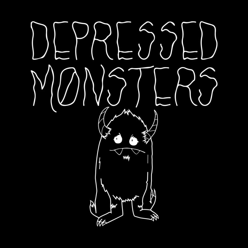 Depressed Monsters white logo Kids Baby T-Shirt by Depressed Monsters