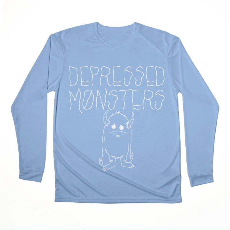 Depressed Monsters white logo Women's Longsleeve T-Shirt by Depressed Monsters