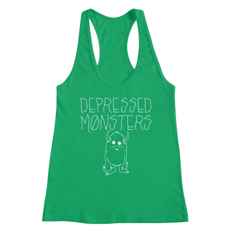 Depressed Monsters white logo Women's Tank by Depressed Monsters