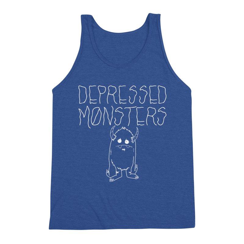 Depressed Monsters white logo Men's Tank by Depressed Monsters