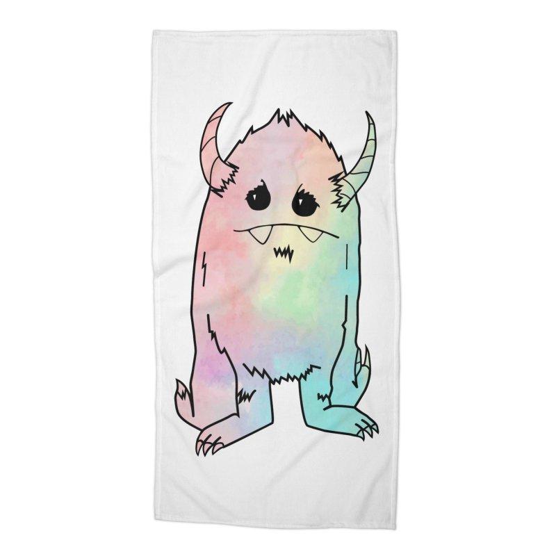 Pastel Yerman Accessories Beach Towel by Depressed Monsters