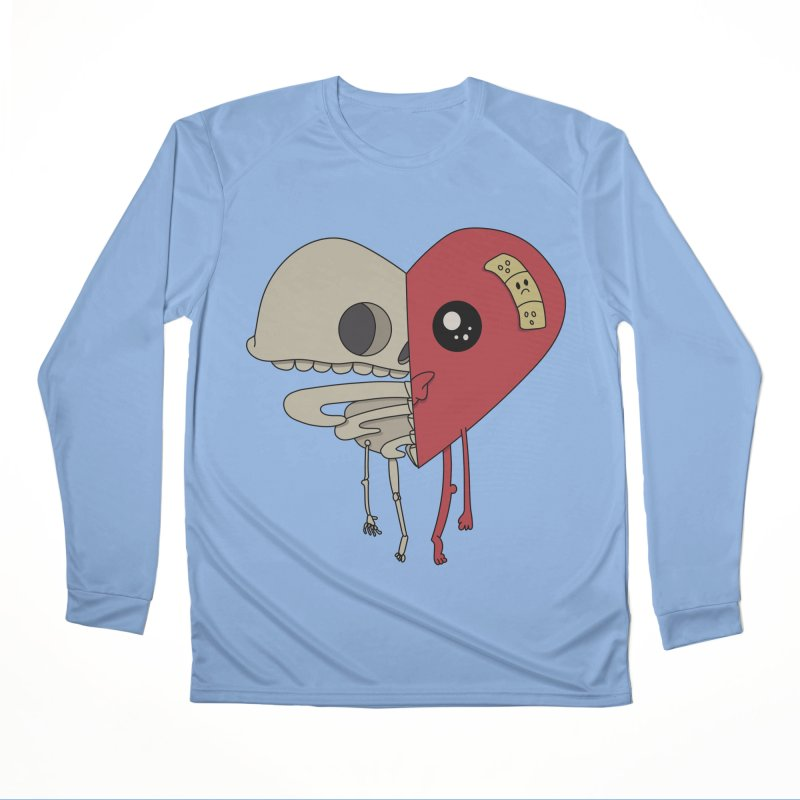Skele Heart Women's Longsleeve T-Shirt by Depressed Monsters