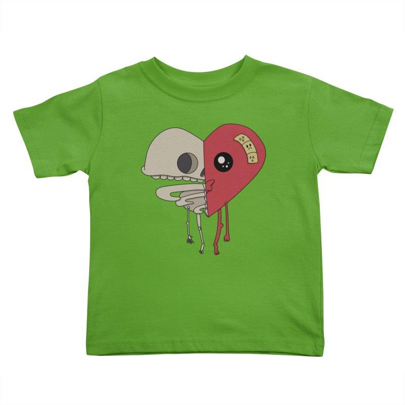 Skele Heart Kids Toddler T-Shirt by Depressed Monsters