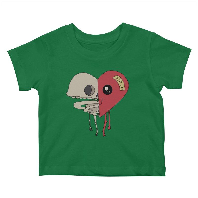 Skele Heart Kids Baby T-Shirt by Depressed Monsters