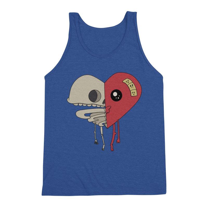Skele Heart Men's Tank by Depressed Monsters