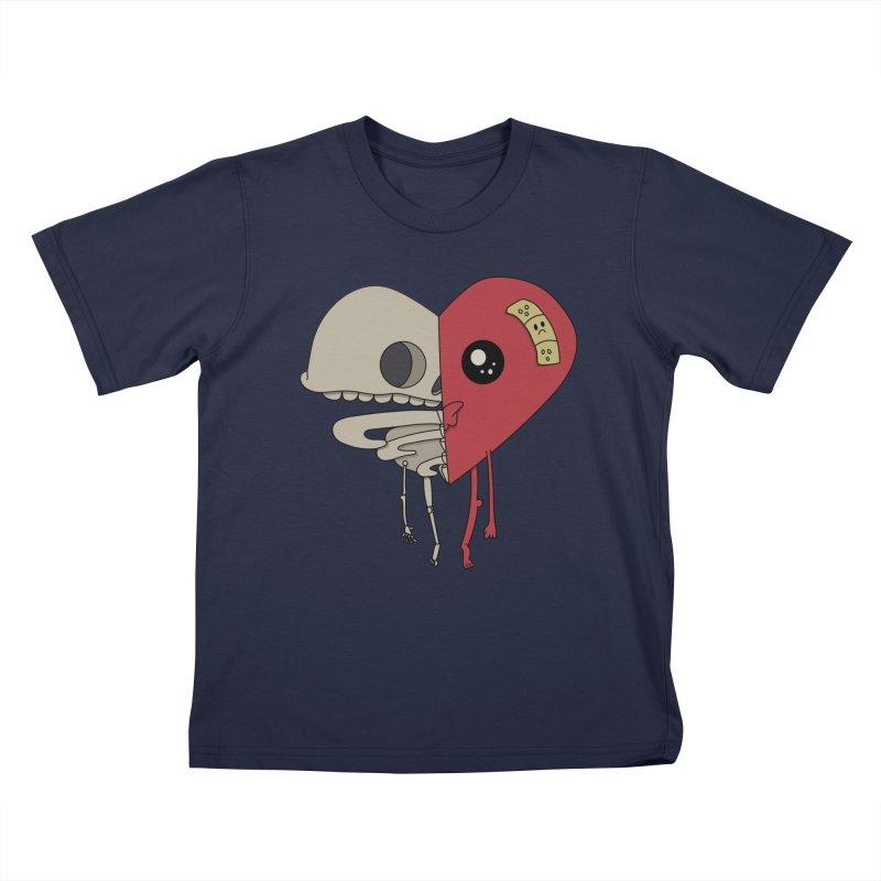 Skele Heart Kids T-Shirt by Depressed Monsters