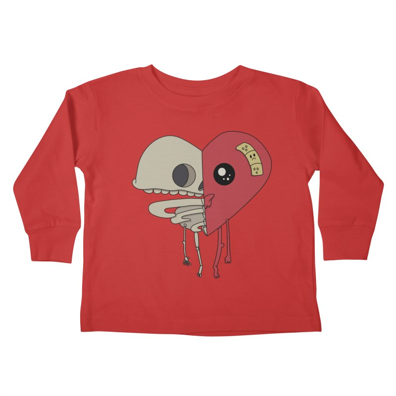 Skele Heart Kids Toddler Longsleeve T-Shirt by Depressed Monsters