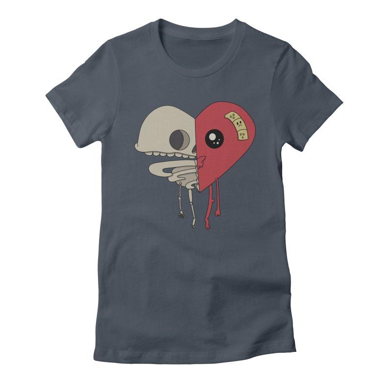 Skele Heart Women's T-Shirt by Depressed Monsters
