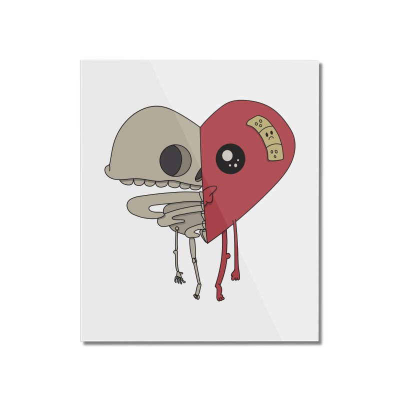 Skele Heart Home Mounted Acrylic Print by Depressed Monsters