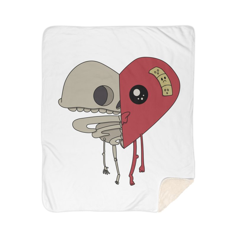 Skele Heart Home Blanket by Depressed Monsters