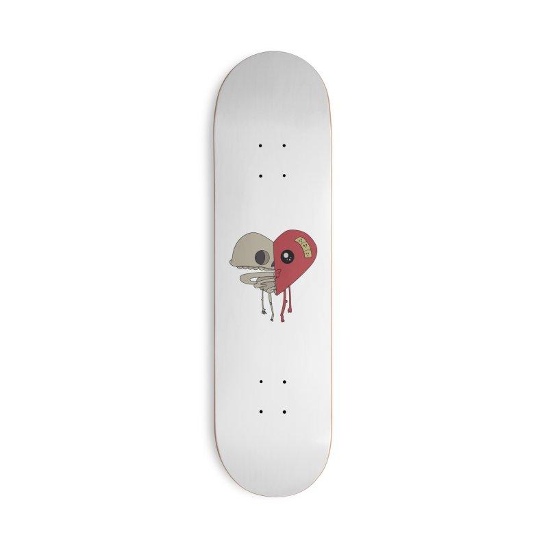 Skele Heart Accessories Skateboard by Depressed Monsters